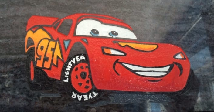 disney cars grave design