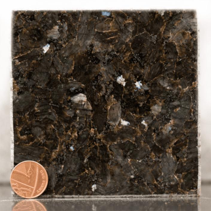 emerald pearl granite headstone sample