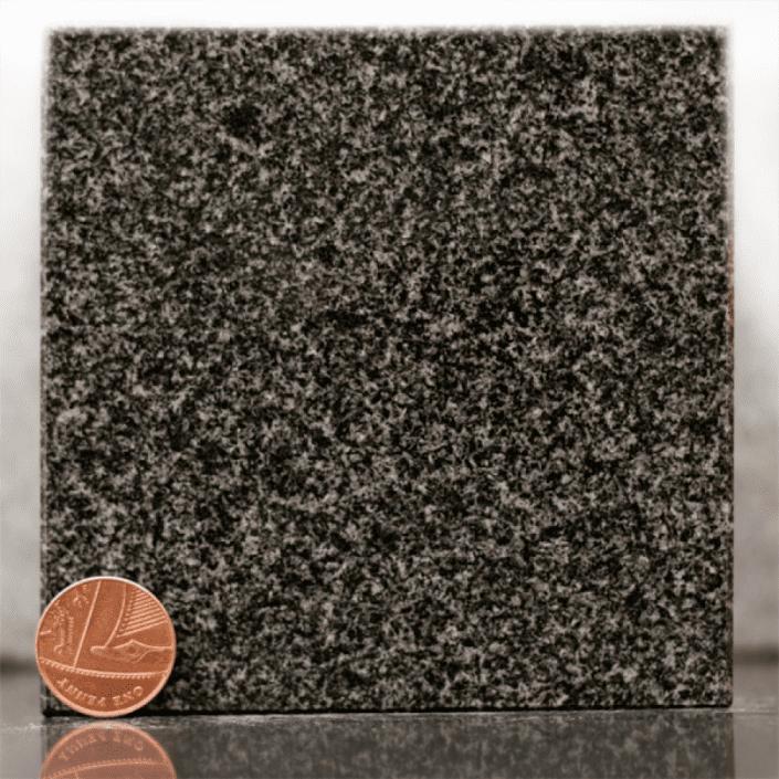 Flint grey granite headstone sample