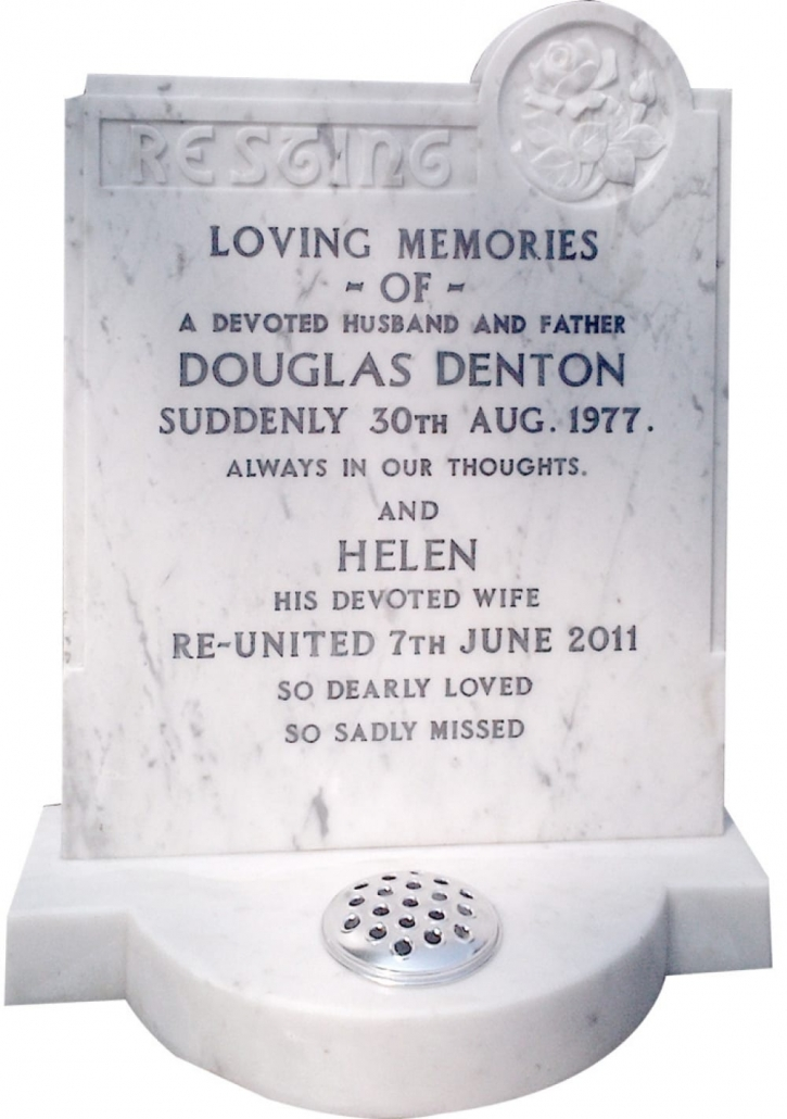 a renovated headstone