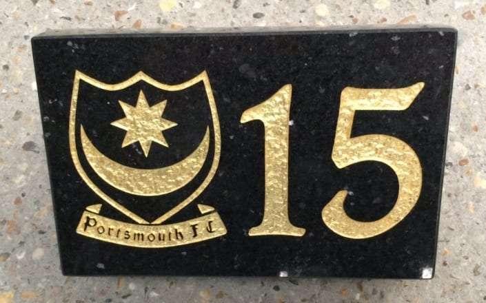 house plaque portsmouth fc