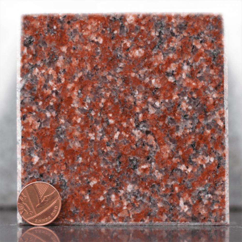 imperial red granite headstone sample