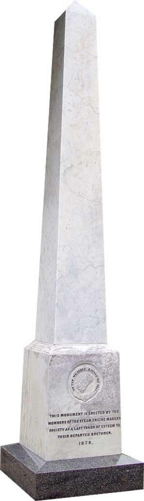 Obelisk memorial after renovation