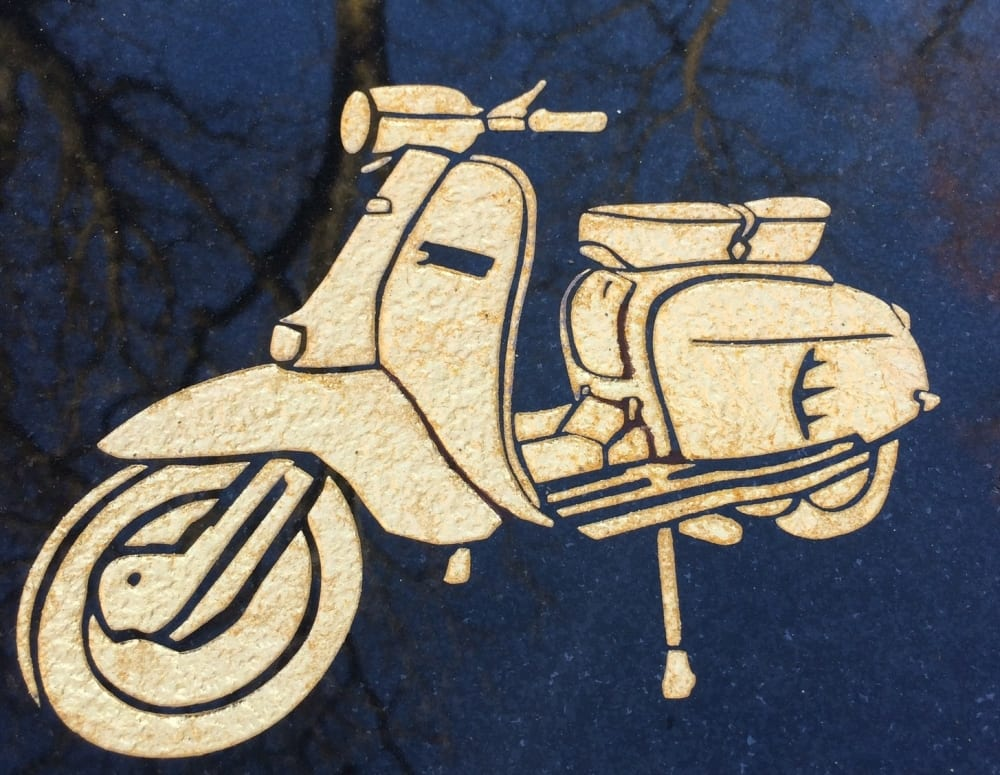 moped grave design