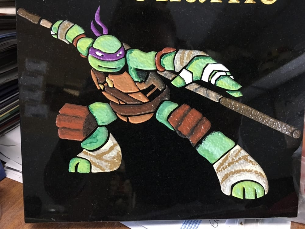 ninja turtles grave design