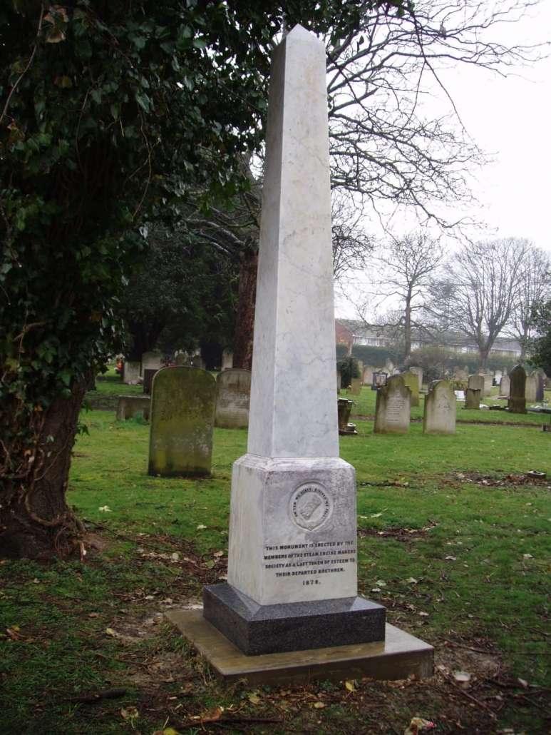 renovated memorial in a graveyard