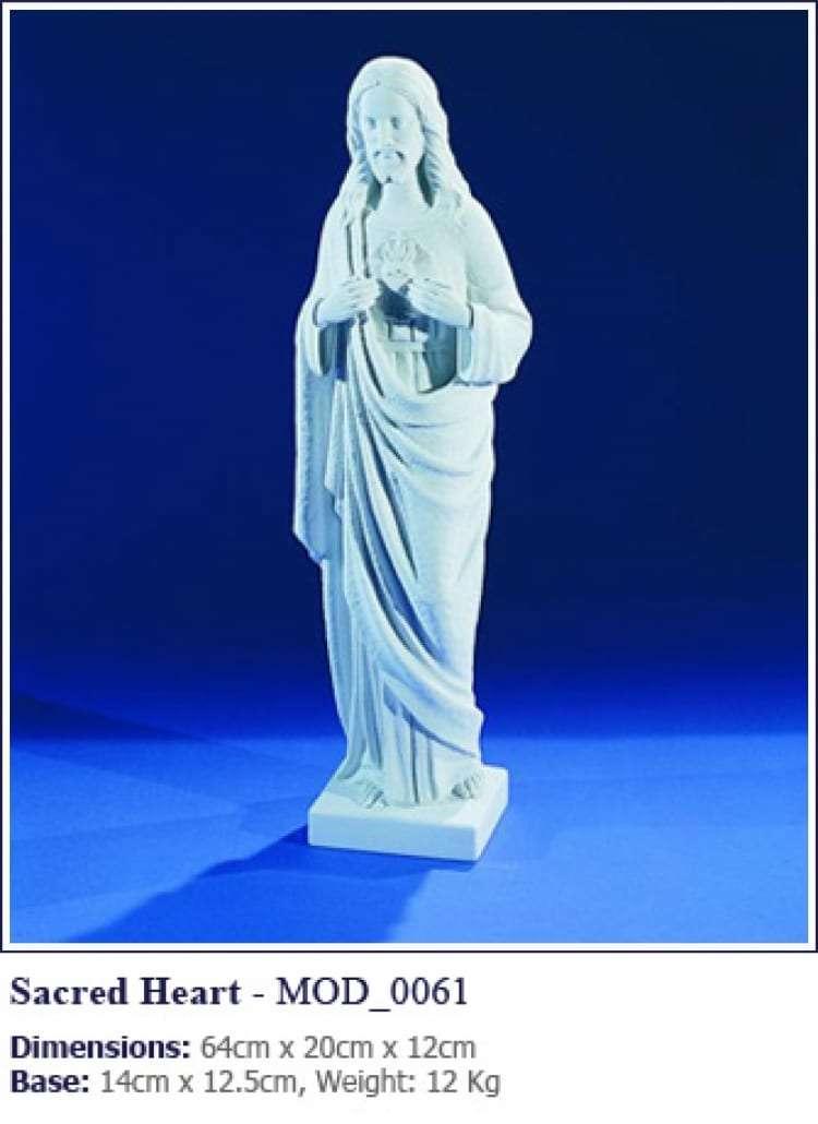 sacred heart grave statue