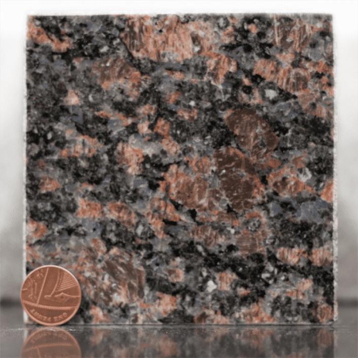 sapphire brown granite headstone sample