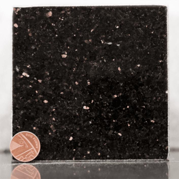 star galaxy black headstone sample