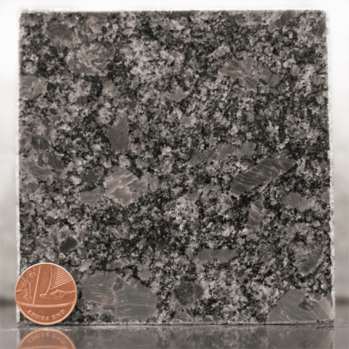 steel grey granite headstone sample