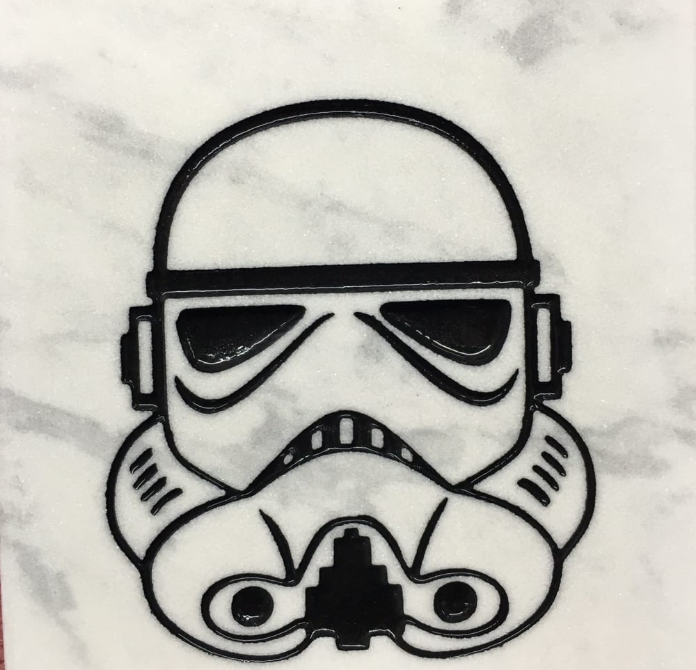 storm trooper grave design