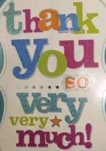 thank you card alver stones