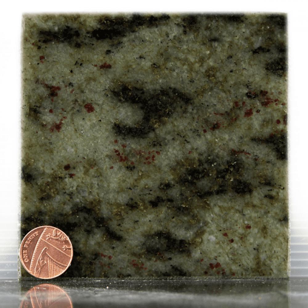 tropical green granite headstone sample