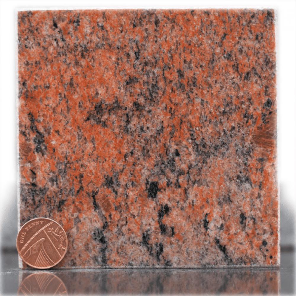 twilight red granite headstone sample